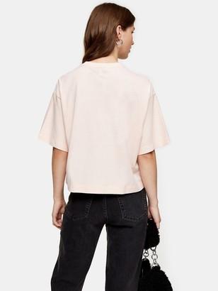 Topshop Panel Boxy T- Shirt - Pink