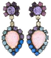 Dannijo Crystal & Resin Drop Earrings