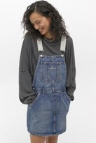 Calvin Klein Jeans Iconic Dungarees Mini Dress - Blue S at Urban Outfitters