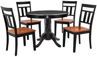 Nixon Millwood Pines 5 Piece Solid Wood Dining Set Millwood Pines
