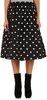 Comme des Garcons Women's Polka Dot Plain-Weave Full Midi-Skirt