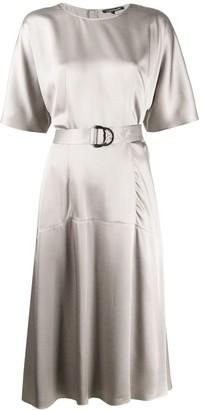Luisa Cerano Belted Flared Midi Dress