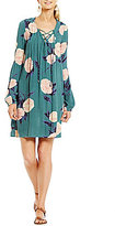 Billabong Just Like You Floral Printed Lace-Up Swing Dress