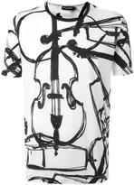 Dolce & Gabbana cello print T-shirt - men - Cotton - 46