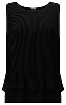 Phase Eight Polly Pleat Top, Black