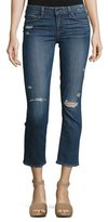 Paige Miki Cropped Straight-Leg Jeans, Colton Destructed