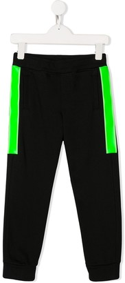 Emporio Armani Kids Panelled Block Color Track Pants