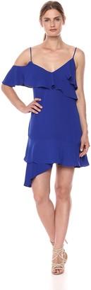 BCBGMAXAZRIA Azria Women's Asymmetrical Ruffle A-Line Dress