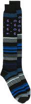 Etro flowers and stripes socks