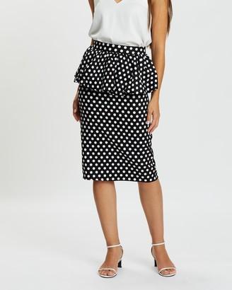 Atmos & Here Charlotte Peplum Skirt