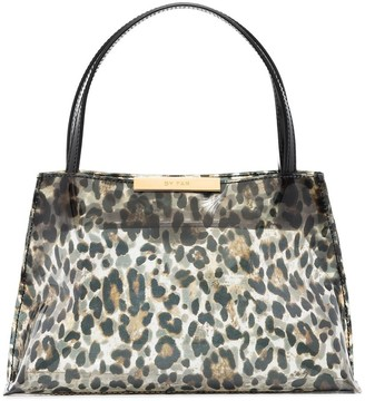 BY FAR Charlotte leopard print tote