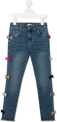 Billieblush Ribbon Embroidered Jeans