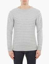 S.n.s. Herning Grey Waffle-knit Wool Sweater