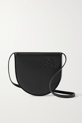 Loewe Heel Small Leather Shoulder Bag - Black