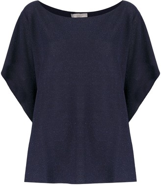 D-Exterior Batwing Knitted Top