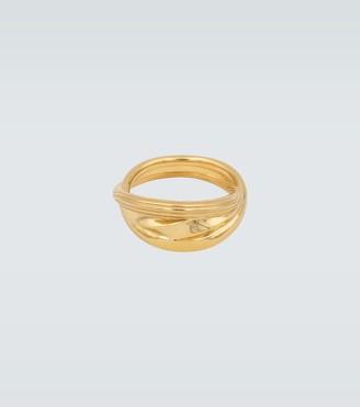 Bottega Veneta Gold-plated sterling silver ring