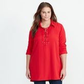 Ralph Lauren Woman Lace-Up Crepe De Chine Tunic