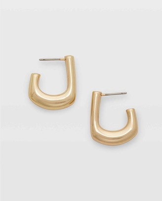 Club Monaco Geometric Hoop Earring