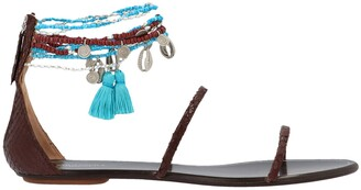 Aquazzura Ankle Charm Flat Sandals