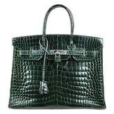 Hermes Birkin crocodile handbag