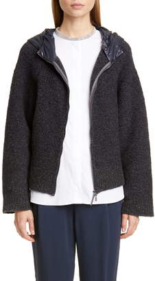 Fabiana Filippi Quilted Hood Wool Blend Boucle Jacket