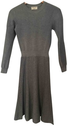 MAISON KITSUNÉ Grey Wool Dresses