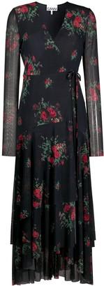 Ganni Floral-Print Maxi Dress