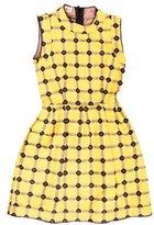 Marni Leather-Trimmed A-Line Dress w/ Tags