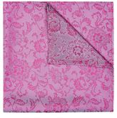 Hardy Amies Mens Pink and Blue Paisley Pocket Square