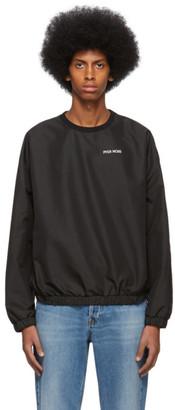 Pyer Moss Black Taffeta Crewneck Sweater