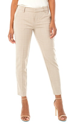 Liverpool Kelsey Check Straight Leg Trousers