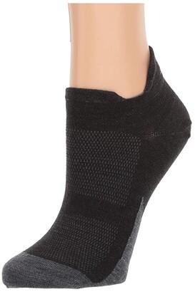 Feetures Merino 10 Ultra Light No Show Tab (Charcoal) No Show Socks Shoes