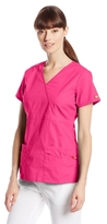 Dickies Women's EDS Signature Series Scrubs Junior-Fit Mock-Wrap Top