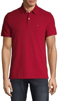 Tommy Hilfiger Custom-Fit Embroidered Logo Cotton Polo