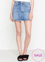 A Gold E AGOLDE Quinn Denim Skirt
