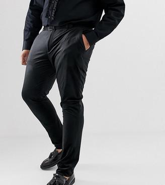 ASOS DESIGN Plus super skinny trousers in black velvet