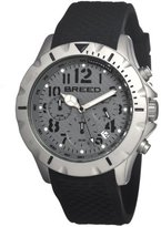 Breed Men's BRD3602 Sergeant Grey/Black Silicone Chronograph Watch with Date Display