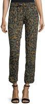 Zadig & Voltaire Parone Leopard-Print Drawstring Jogger Pants