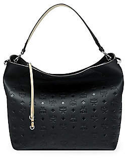 MCM Women's Large Klara Monogram Leather Hobo Bag