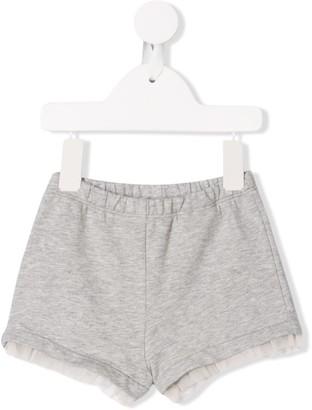 Moncler Enfant Ruffle Trim Track Shorts