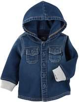 Osh Kosh Oshkosh Bgosh Baby Boy Hooded Denim Shirt