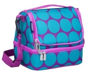 Wildkin Big Dot Aqua Two Compartment Lunch Bag