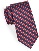 Black Brown 1826 Silk Diagonal Striped Tie