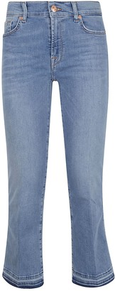 7 For All Mankind Cropped Boot Unrolled Slim Illusion Departed