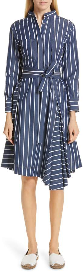 Brunello Cucinelli Pinstripe Cotton Shirtdress