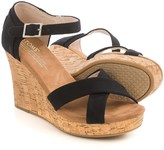 Toms Strappy Wedge Sandals (For Women)