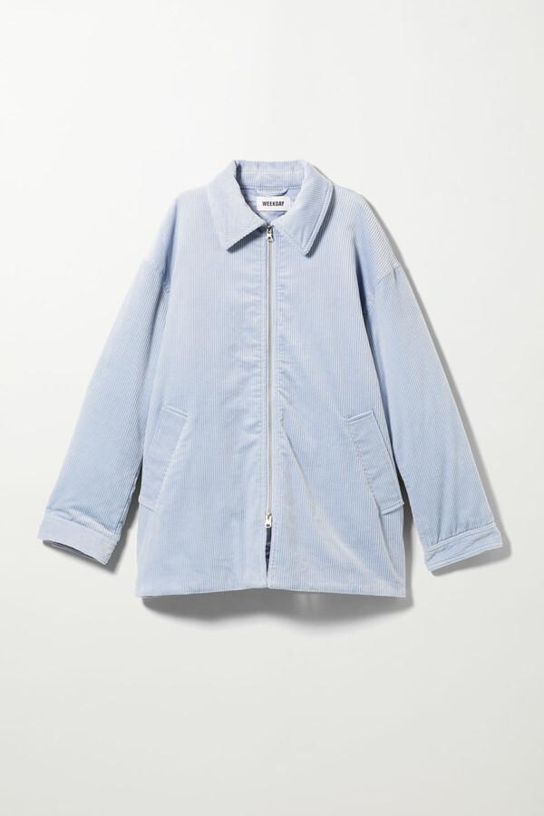 Weekday Tara Oversized Cord Jacket - Blue