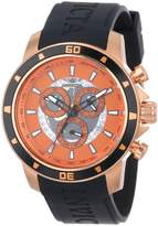 Invicta Men's 11387 Specialty Chronograph Tone Dial Black Polyurethane Watch