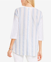 Vince Camuto TWO by Cotton Striped-Back Blouse