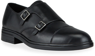 Bally Men's Neo Double-Monk Leather Loafers
